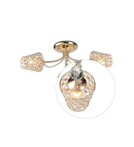 CASTER Gold Ceiling Light - 3 Lights