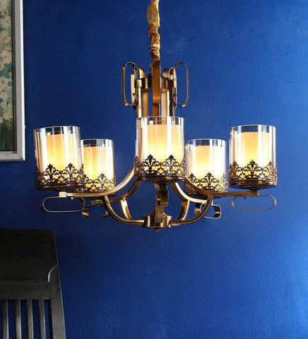 Gerard Gold Glass Chandelier - Stello Light Studio