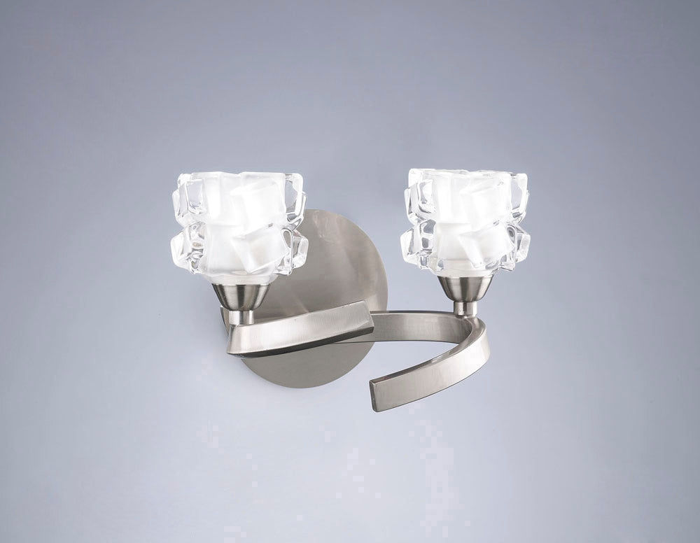 ICE WALL LIGHT 2 LIGHT SATIN NICKEL