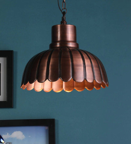 Ikea Copper Metal Hanging Light - Stello Light Studio