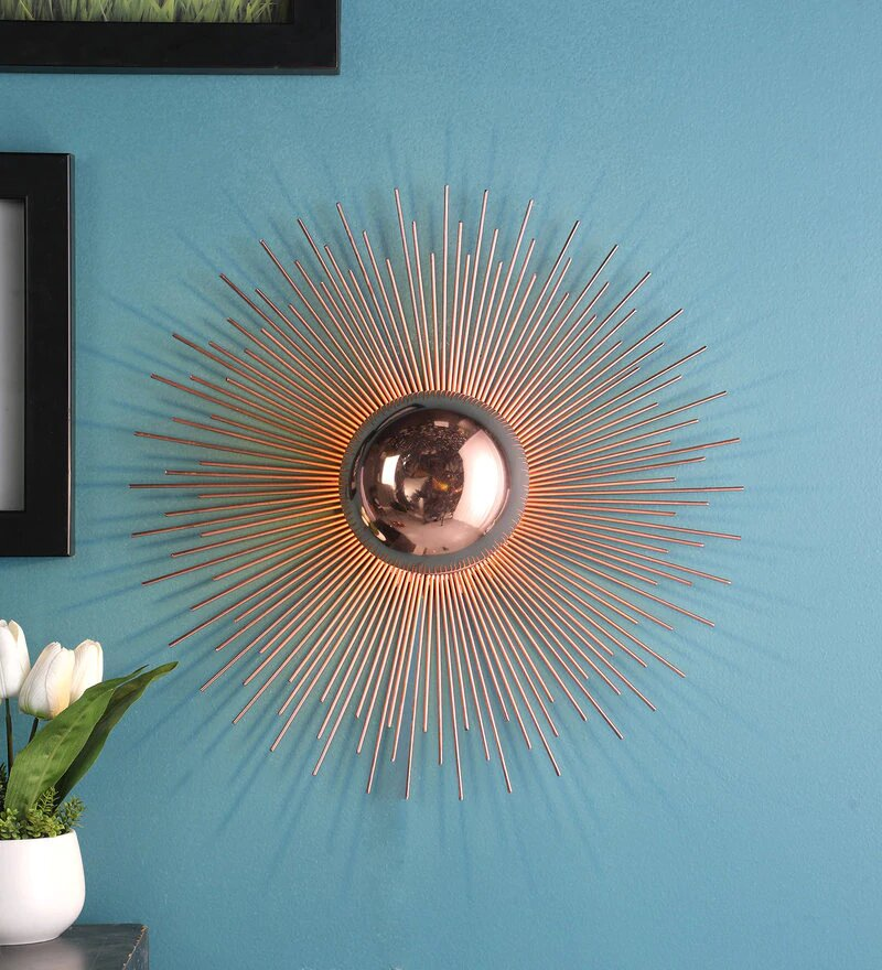 Mervin Antique Copper Metal Wall Light