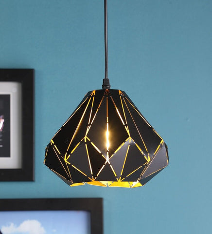 Meto Black Metal Hanging Light - Stello Light Studio