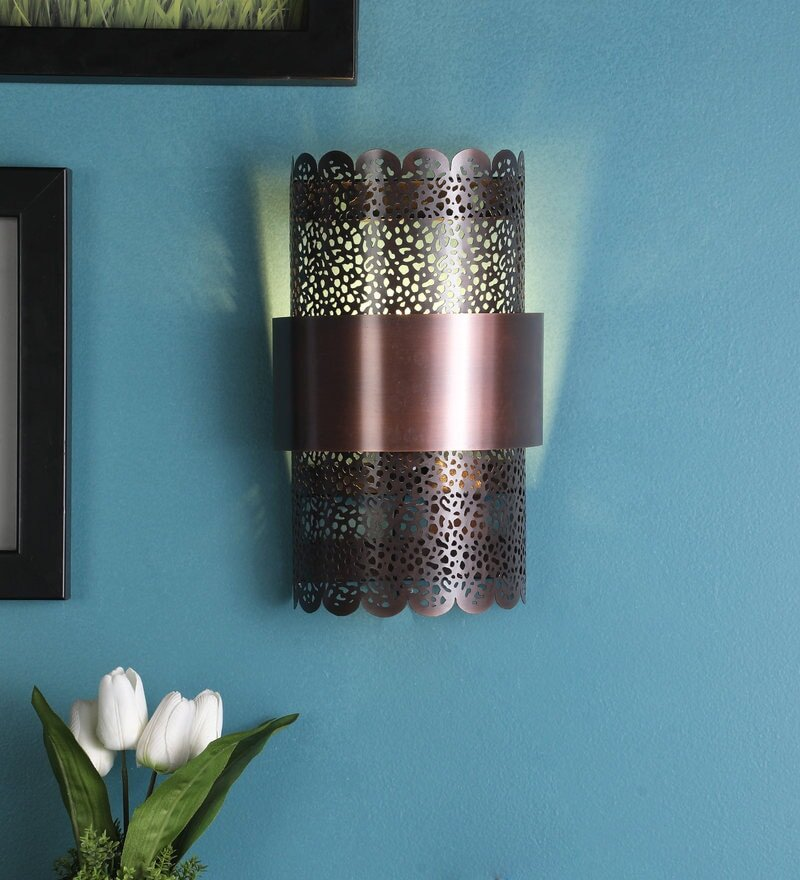 Mullan Antique Copper Metal Wall Light