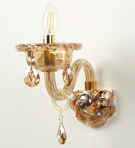 Palacio Gold Glass and Crystal Wall Light