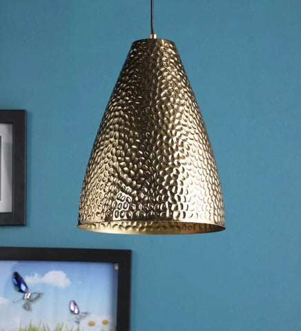 Retro Antique Gold Metal Hanging Light