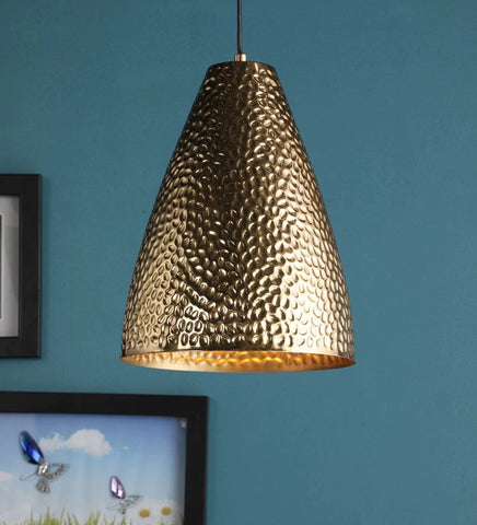 Retro Antique Gold Metal Hanging Light - Stello Light Studio