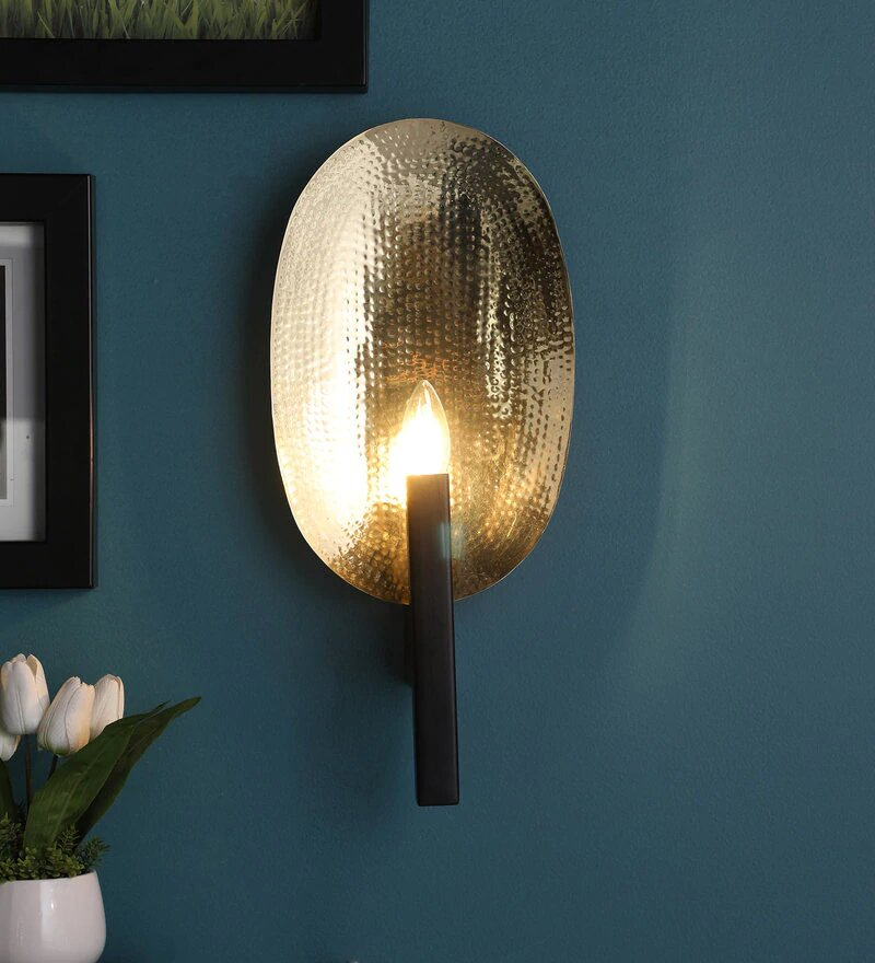 Riva Gold Metal Wall Light