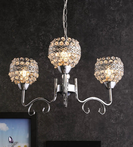 PLAMO Chrome Chandelier - 3 Lights - Stello Light Studio