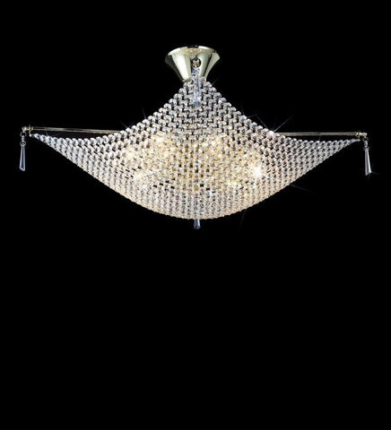 KAPARI Chrome Ceiling Light - 4 Lights