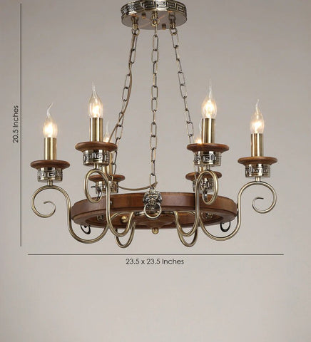 ANTIQUE CHANDELIER- 6 LIGHTS