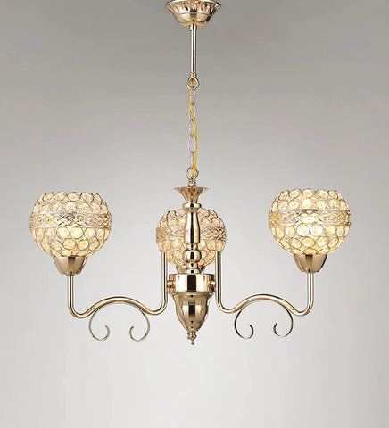 PLAMO Gold Chandelier - 3 Lights
