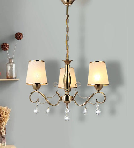 KIANA Gold Chandelier - 3 Lights - Stello Light Studio