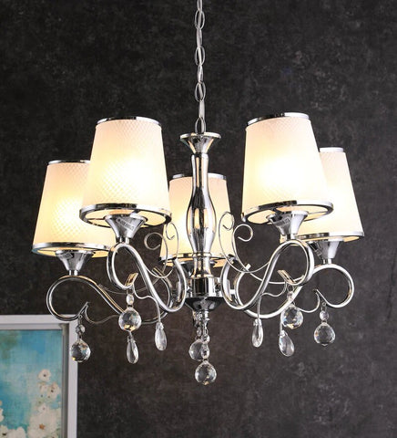 KIANA Chrome Chandelier - 5 Lights - Stello Light Studio