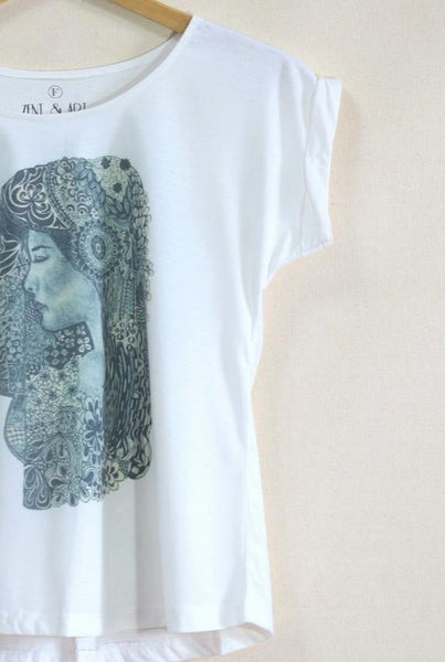 Lady Short Sleeves Artwork zent-angle t-shirt