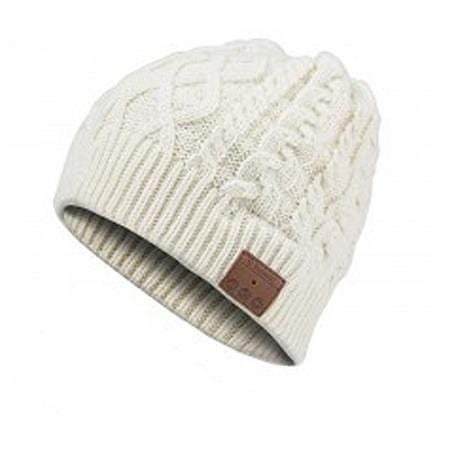Bluetooth Music Beanie - Cream Cable Knit