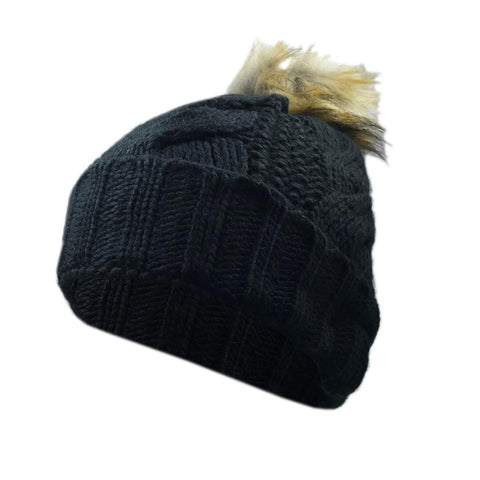 Bluetooth Music Beanie - Black Bobble