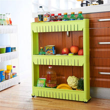 Load image into Gallery viewer, Movable Plastic Interspace Storage Rack - Kitchen/Bathroom Racks