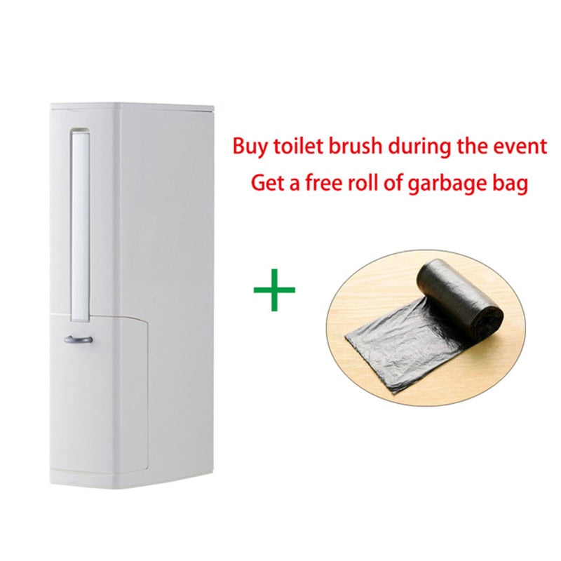 2 in 1 Narrow Trash Can Set with Toilet Brush