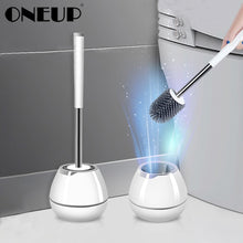 Load image into Gallery viewer, TPR Soft Silicone Toilet Brush With Hide Tweezers Toilet Bowl