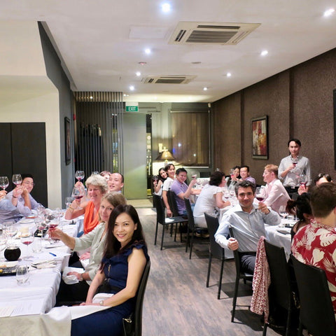 Boon organises wine dinners in Singapore