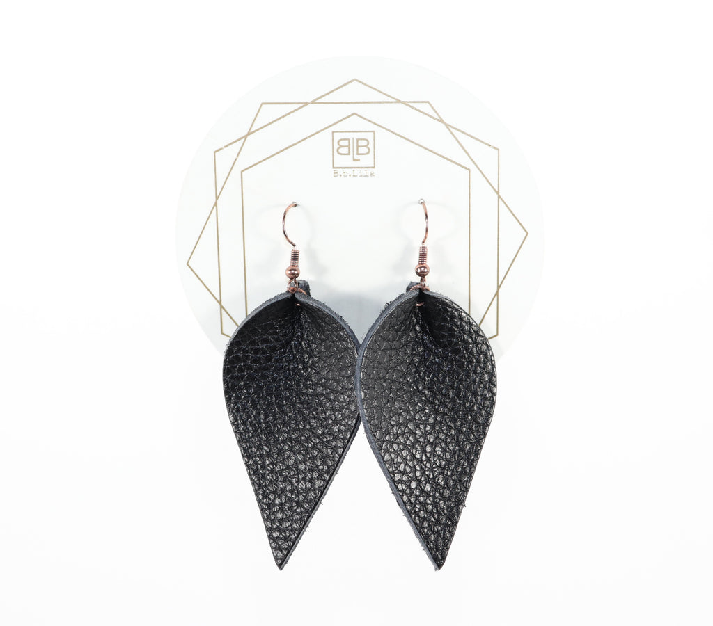 Leather Leaf - Black