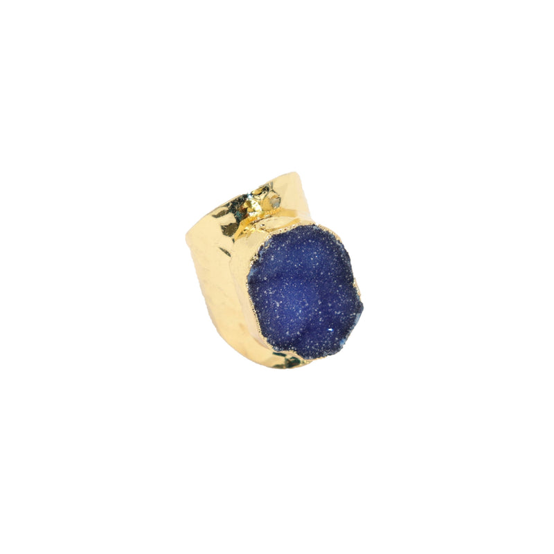 Rock On Ring - Round Blue