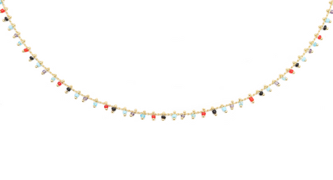 Beaded Choker - Labradorite