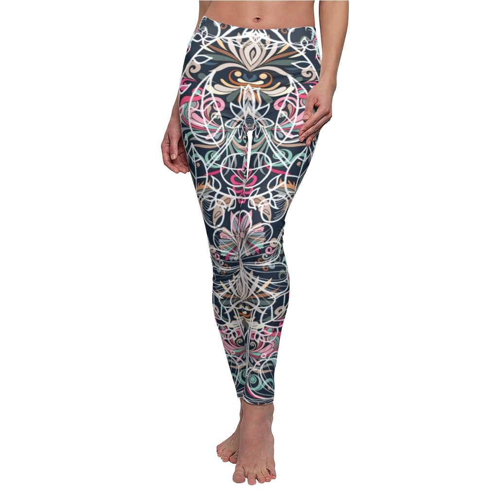 Women's Printed Leggings Full-Length Regular Size Workout Legging Pants Soft Capri L1