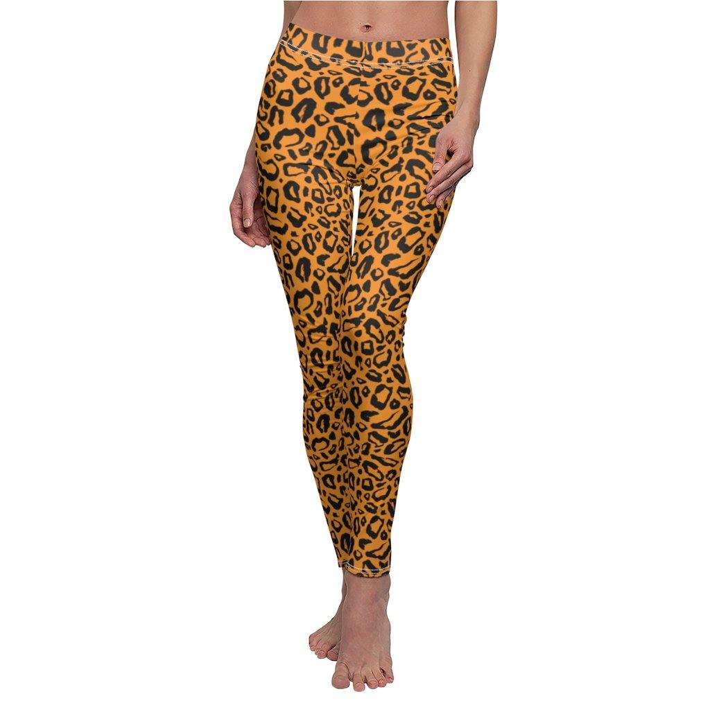 Brown Leopard Sports Bra and Leggings Set