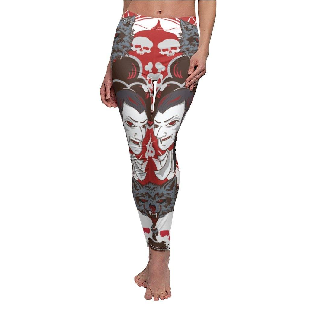 ALL THE HORRORS OF HALLOWEEN YOGA LEGGINGS