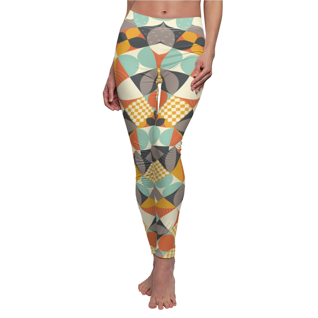 Women's High-Rise Pattern Leggings Full-Length Yoga Pants & Yoga Capris