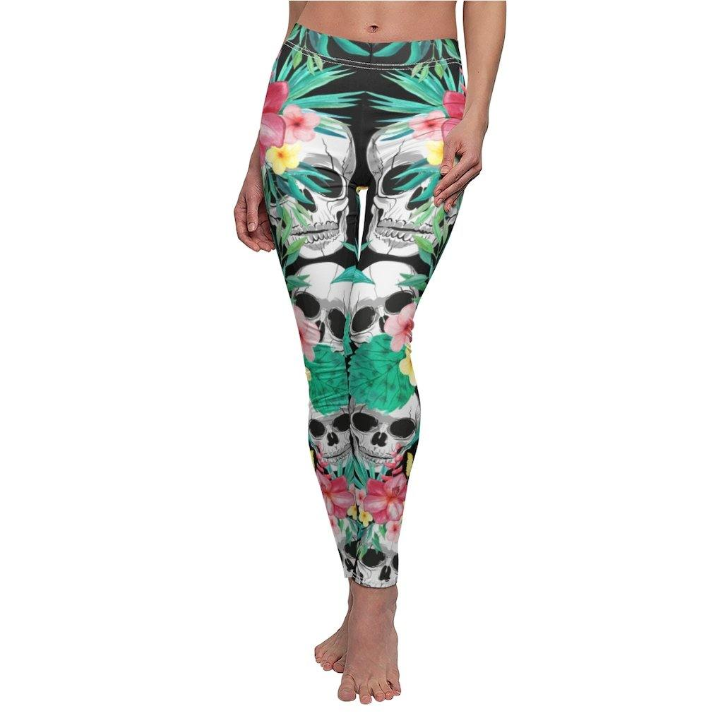 Tropical Skull Leggings