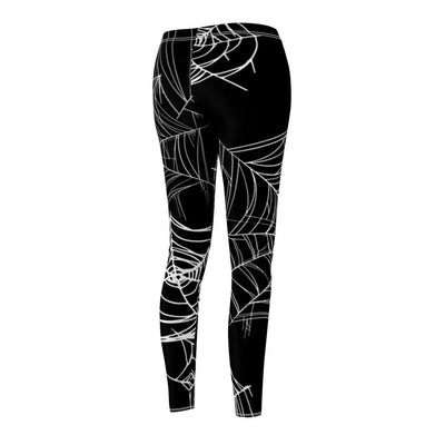 Womens Stretchy Tights Halloween Spider Web Pattern Fashion Leggings