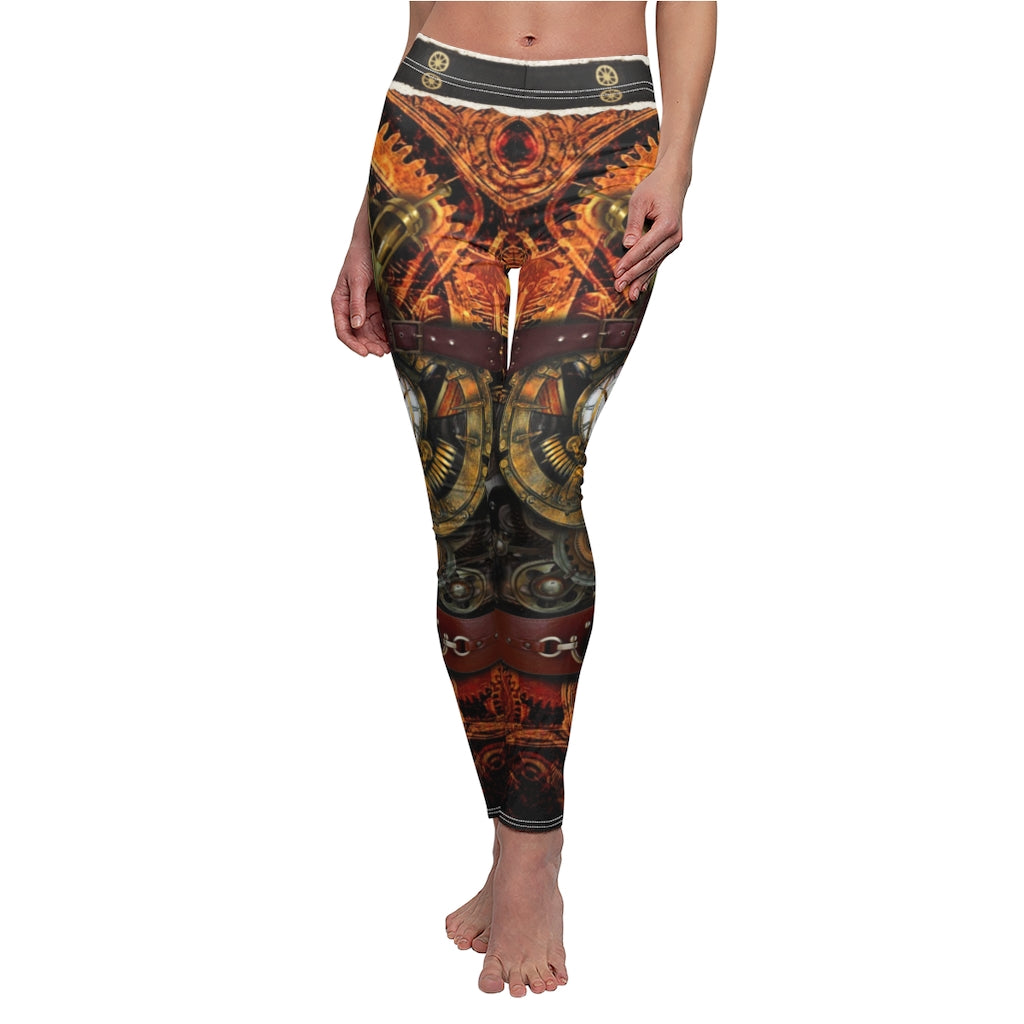 Women Steampunk Retro Leggings Comic Cosplay Punk Print Polyester Gothic Trousers Capris Pants