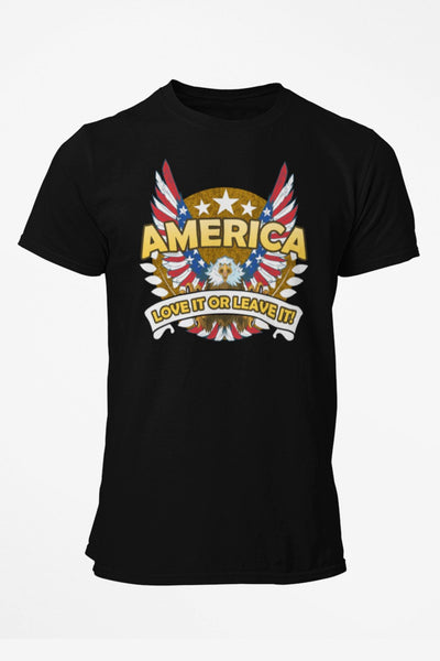America Love It Or Leave It Patriotic Eagle Mens T-Shirt