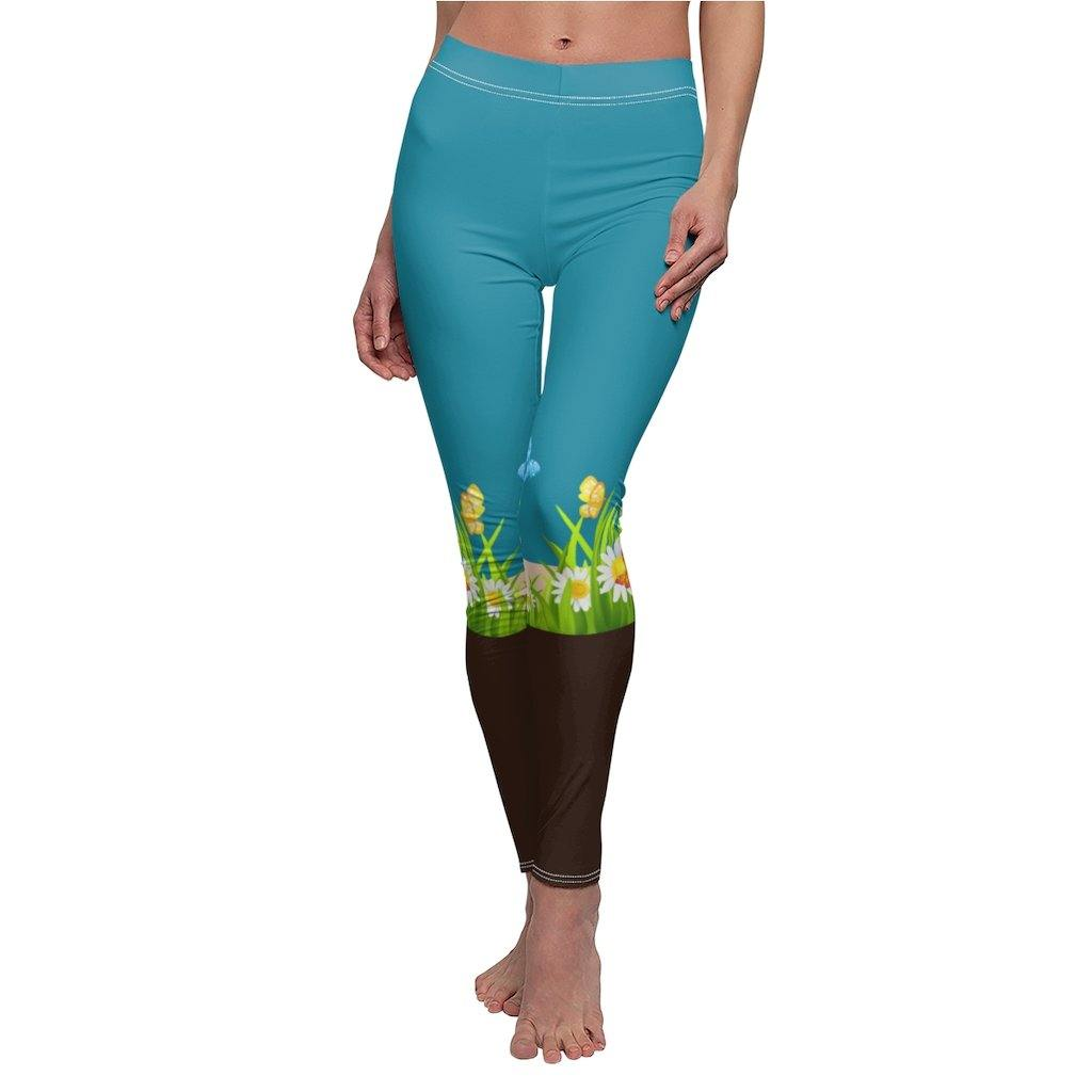 Leggings Boots N' Bouquet xtratuf leggings for women with bright vibrant flowers and foliage buttery soft stretchy comfortable