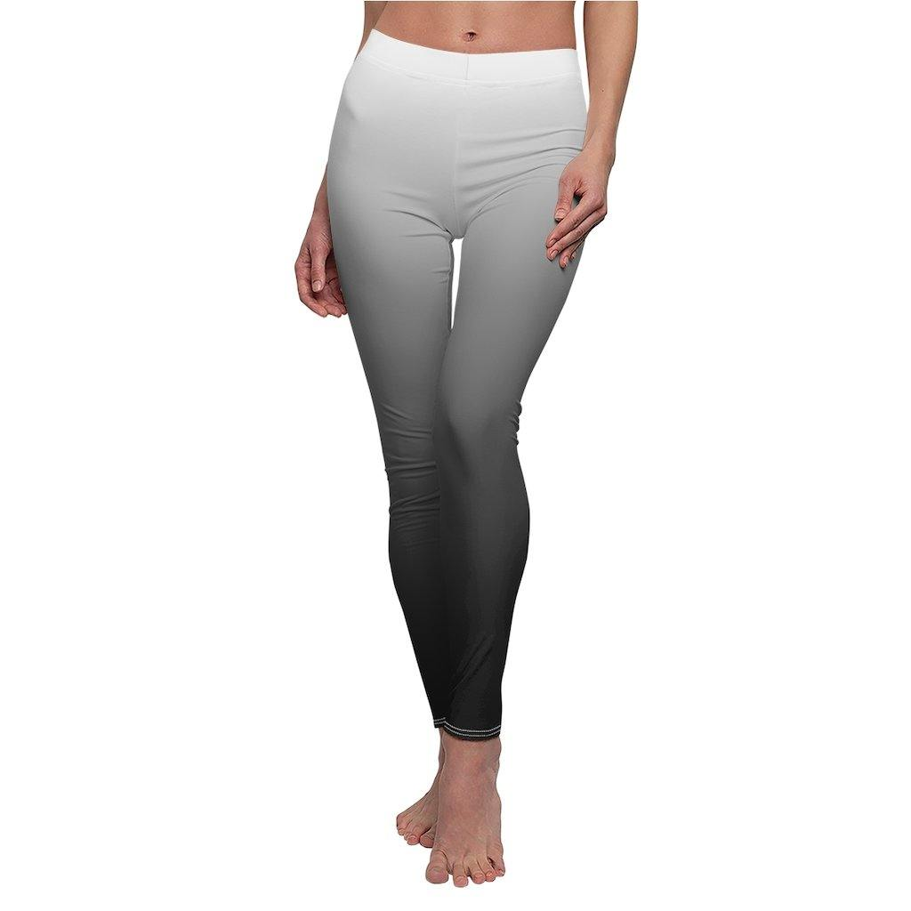 Ombre White to Black Leggings