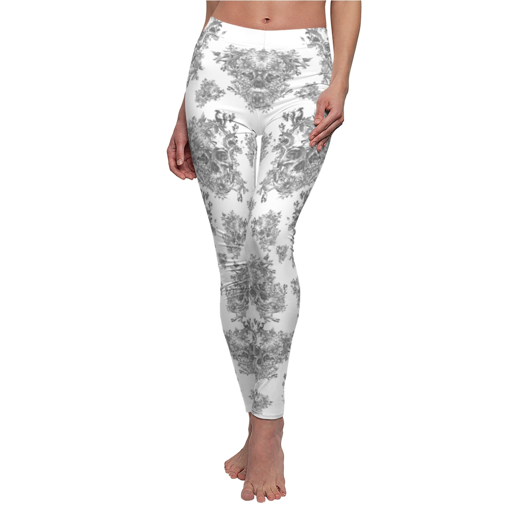 Women's Ultra Buttery Soft Sugar Skull Printed Leggings Elastic High Waist Tights