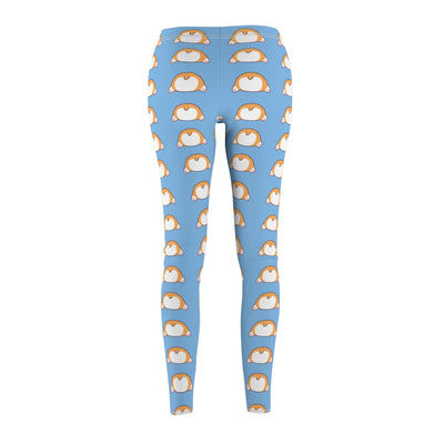 Mini corgi butts Leggings Blue
