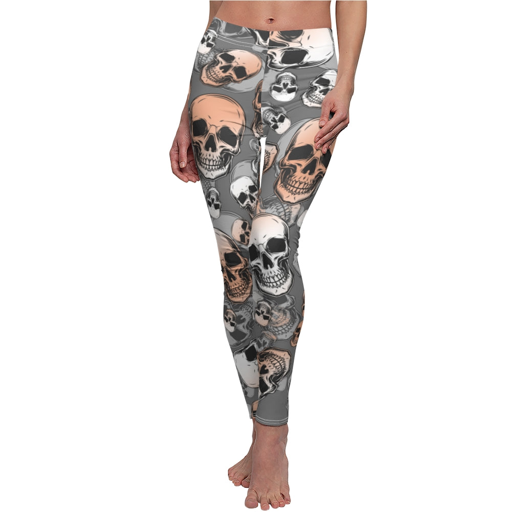 Skulls Grey Leggings