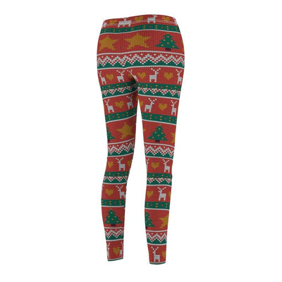 KNITTED PRINT UGLY CHRISTMAS LEGGINGS