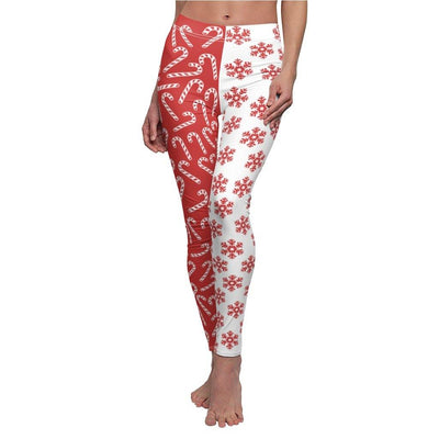 TWO PATTERNED CHRISTMAS LEGGINGS