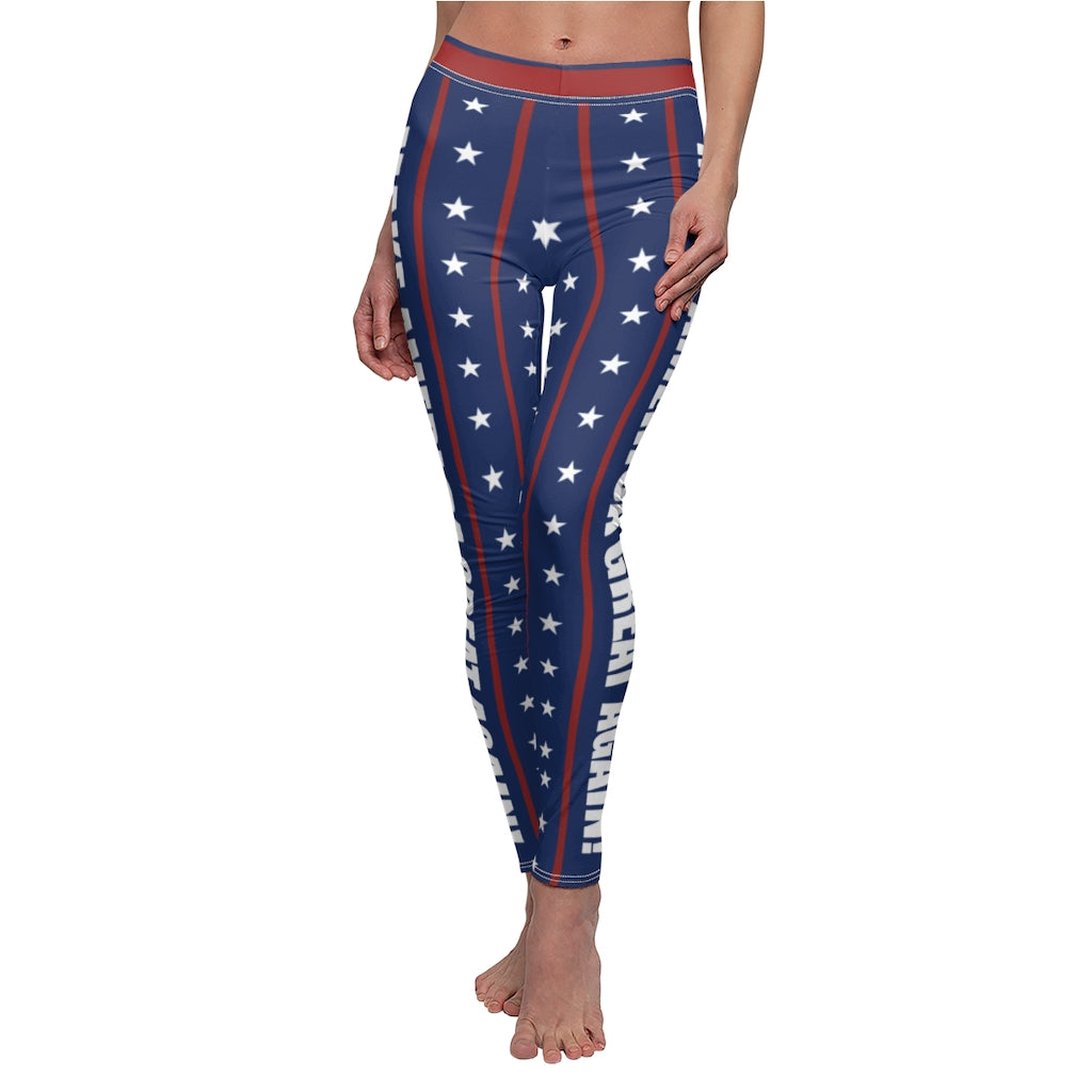 Patriotic Make America Great Again Yoga / Leggings MAGA Pants Fast Shipping