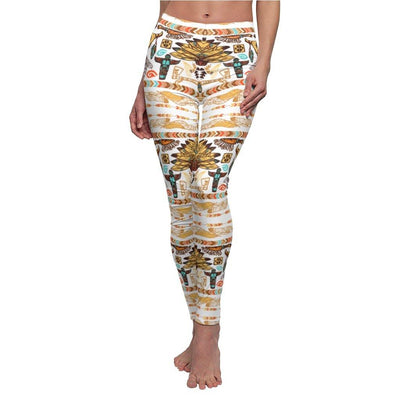 BRUSHED NAVAJO NATIVE AMERICAN CAPRI JOGGERS