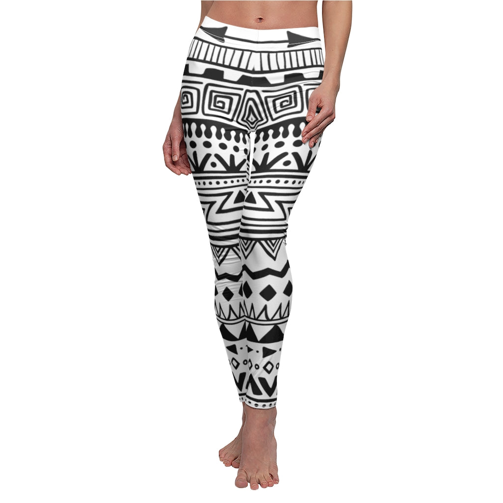 Tribal Indians Native Aztec Women's Print Fitness Stretch *Leggings* Yoga Pants