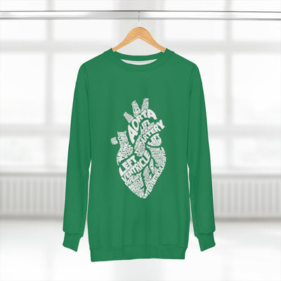 Womens Unisex Sweatshirt Heart Anatomy Nursing School Sweater Student Anatomical Layout Heart Aorta Ventricle Cute Trending Gift For Student