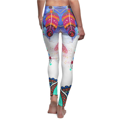 INTERESTPRINT Custom Boho Ethnic Tribal Stretchy Capri Leggings Skinny Pants for Yoga Running Pilates Gym