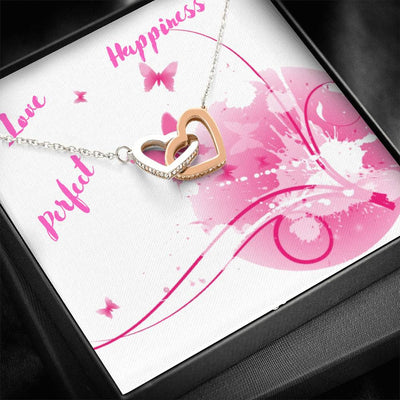 Heart Necklace - Silver&Gold Filled Beautiful Gift