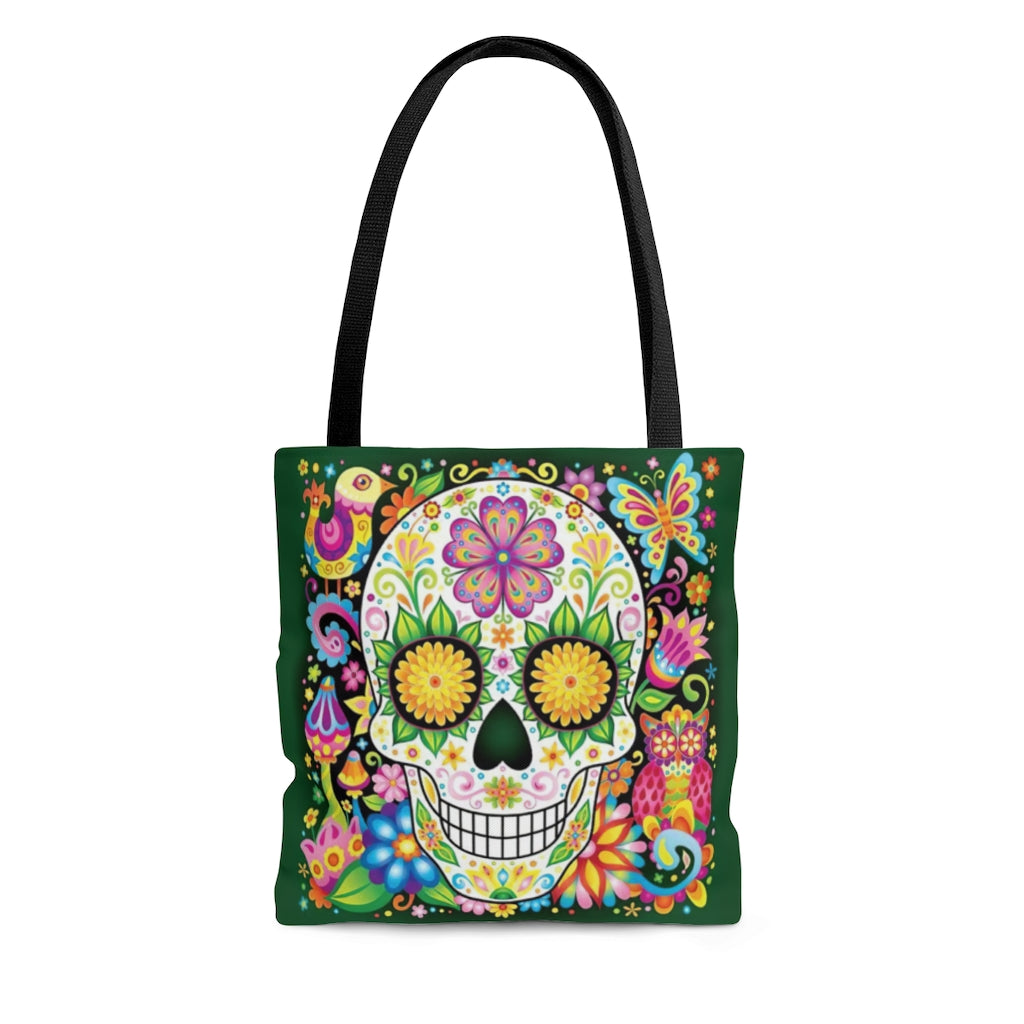 Sugar Skull Tote Bag / Cross Body Bag