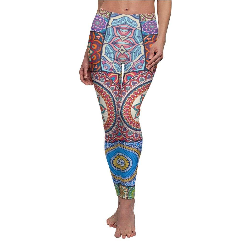 Comfy Yoga Pants - High Waisted Yoga Leggings with Bohemian Print - Extra Soft - Dry Fit